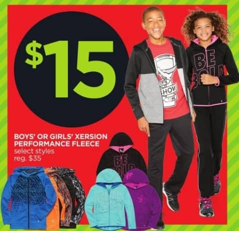 JCPenney Black Friday: Xersion Boys' or Girl's Performance Fleece, Select Styles for $15.00