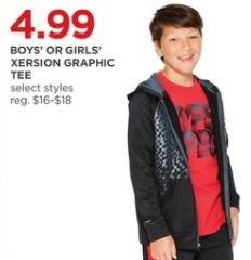 JCPenney Black Friday: Xersion Boys' or Girls' Graphic Tees, Select Styles for $4.99