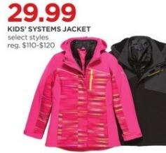 JCPenney Black Friday: Kids' Systems Jacket, Select Styles for $29.99