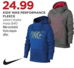 JCPenney Black Friday: Nike Kids' Performance Fleece for $24.99