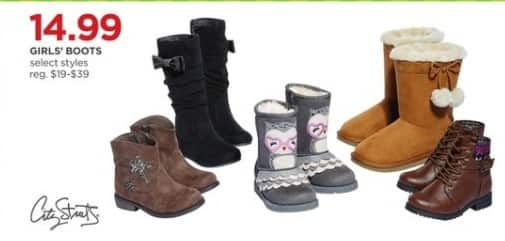 JCPenney Black Friday: City Streets Girls' Boots, Select Styles for $14.99