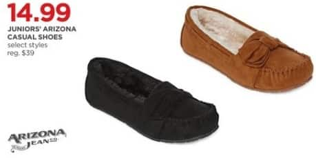 JCPenney Black Friday: Arizona Jeans Juniors Arizona Casual Shoes, Select Styles for $14.99