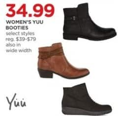 JCPenney Black Friday: Yuu Women's Booties, Select Styles for $34.99