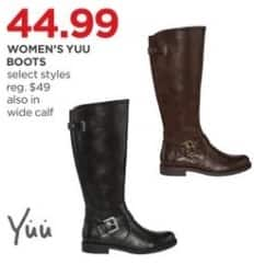 JCPenney Black Friday: Yuu Women's Boots, Select Styles for $44.99