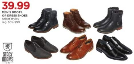 JCPenney Black Friday: Stacy Adams Men's Boots or Dress Shoes for $39.99
