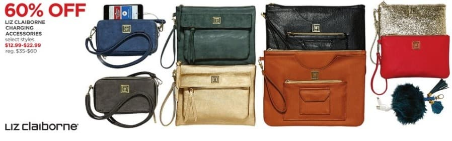 JCPenney Black Friday: Liz Claiborne Charging Accessories, Select Styles - 60% Off