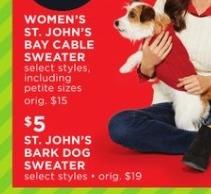 JCPenney Black Friday: St. John's Bay Bark Dog Sweater for $5.00