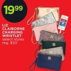 JCPenney Black Friday: Liz Claiborne Charging Wristlet, Select Styles for $19.99