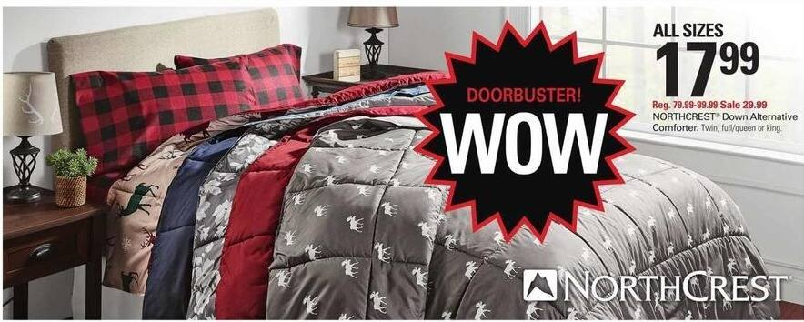 Shopko Black Friday: Northcrest Down Alternative Comforter (Twin, Full/Queen or King) for $17.99