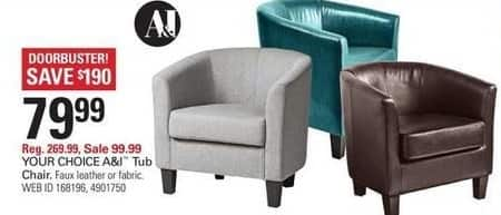 Shopko Black Friday: A&I Tub Chair for $79.99