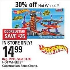 Shopko Black Friday: Hot Wheels Construction Zone Chaos Play Set for $14.99