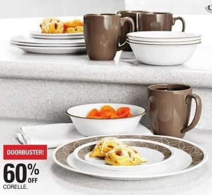 Shopko Black Friday: Corelle Dinnerware - 60% Off