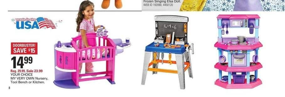 Shopko Black Friday: My Very Own Nursery, Tool Bench or Kitchen for $14.99