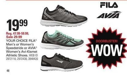 Shopko Black Friday: Fila Memory Speedstride Running Shoes, Men's or Women's for $19.99