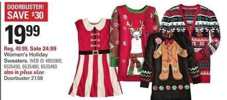 Shopko Black Friday: Women's Holiday Sweaters for $19.99