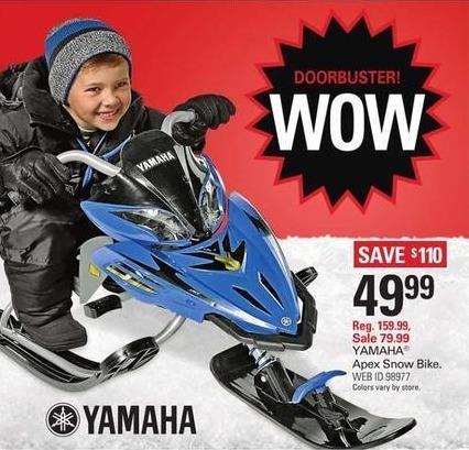 Shopko Black Friday: Yamaha Apex Snow Bike for $49.99
