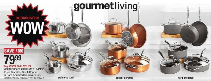 Shopko Black Friday: Gourmet Living 10-pc Stainless Steel Cookware Set for $79.99
