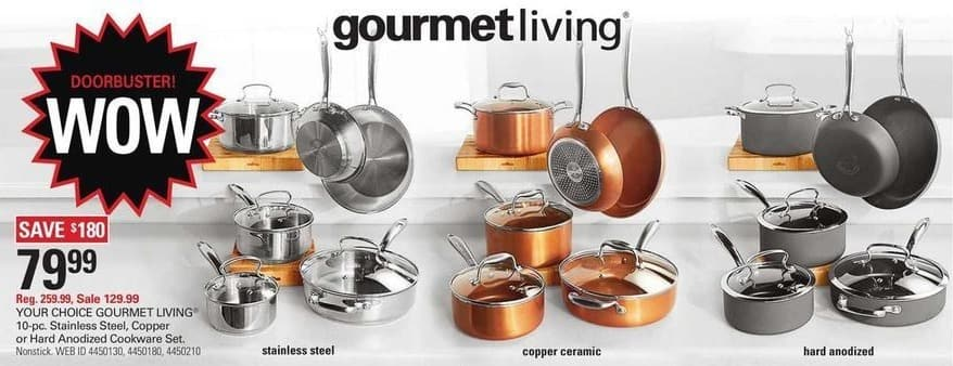 Shopko Black Friday: Gourmet Living 10-pc Hard Anodized Cookware Set for $79.99
