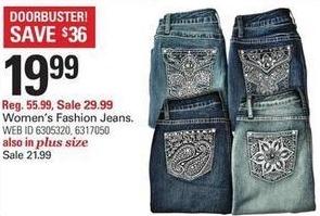 Shopko Black Friday: Women's Plus Fashion Jeans for $21.99