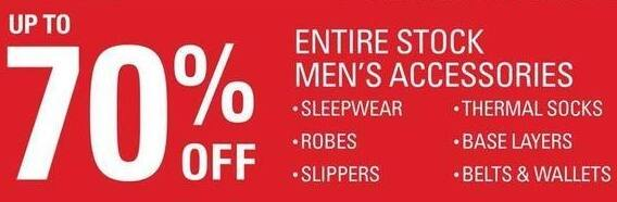 Shopko Black Friday: Entire Stock Men's Accessories, Including Robes, Slippers, Wallets, Belts, Thermal Socks and More - up to 70% Off
