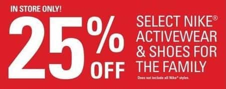 Shopko Black Friday: Nike Activewear & Shoes For The Family - 25% Off
