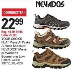 Shopko Black Friday: Nevados Men's or Women's Boomerang Low Hikers for $22.99