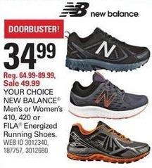 Shopko Black Friday: New Balance Men's or Women's 410 or 420 Shoes for $34.99