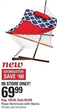 Shopko Black Friday: Rope Hammock with Stand for $69.99