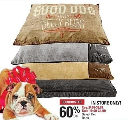 Shopko Black Friday: Pet Beds, Select Styles - 60% Off