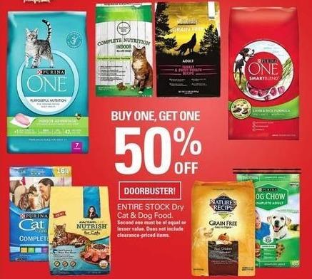 Shopko Black Friday: Entire Stock Dry Cat or Dog Food - B1G1 50% Off