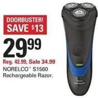 Shopko Black Friday: Norelco S1560 Rechargeable Razor for $29.99