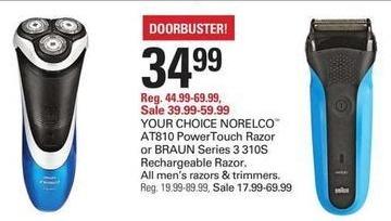 Shopko Black Friday: Norelco AT810 PowerTouch Razor for $34.99