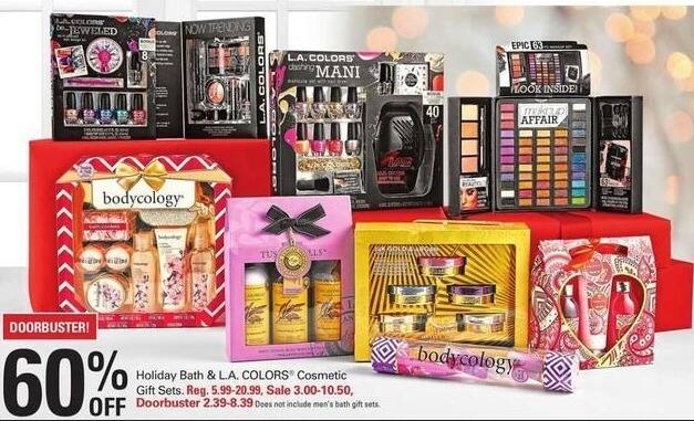 Shopko Black Friday: Holiday Bath and L.A. Colors Cosmetic Gift Sets - 60% Off