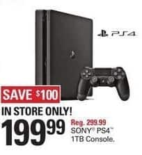 Shopko Black Friday: Sony Playstation 4 1TB Console for $199.99