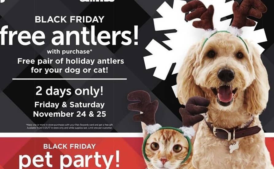 Petco Black Friday: Holiday Antlers for your Dog or Cat, with Purchase for Free