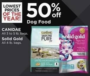 Petco Black Friday: Canidae Dog Food, 3-5 lb Bags or Solid Gold 4 lb Bags - 50% Off