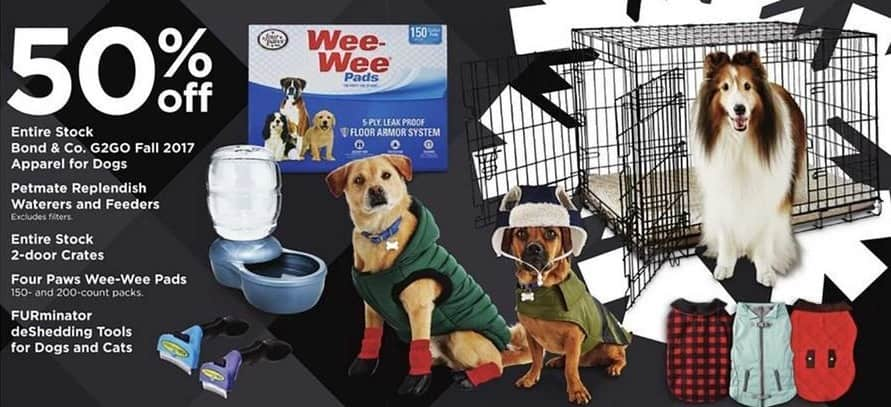 Petco Black Friday: Four Paws Wee-Wee Pads, 150 and 200 ct Packs - 50% Off