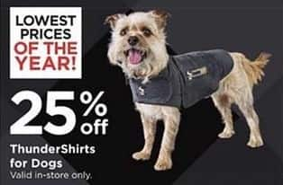 Petco Black Friday: ThunderShirts for Dogs - 25% Off