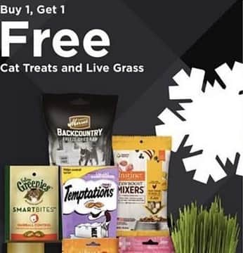 Petco Black Friday: Temptations Snacky Toys and 2.1 to 3 oz Bags - B1G1 Free