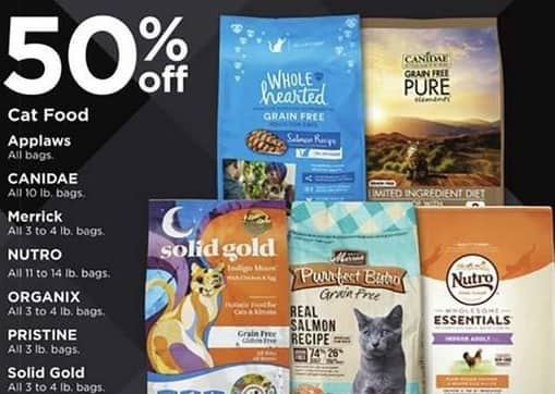 Petco Black Friday: Pristine Cat Food, All 3 lb Bags - 50% Off