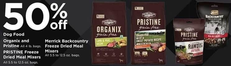 Petco Black Friday: Organix and Pristine Dog Food 4 lb Bags - 50% Off