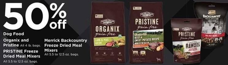 Petco Black Friday: Merrick Backcountry Freeze Dried Meal Mixers 5.5 - 12.5 oz Bags - 50% Off