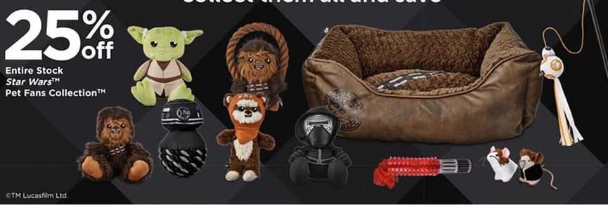 Petco Black Friday: Entire Stock of Star Wars Pet Fans Collection - 25% Off
