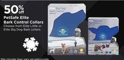 Petco Black Friday: PetSafe Elite Little or Big Dog Bark Control Collars - 50% Off