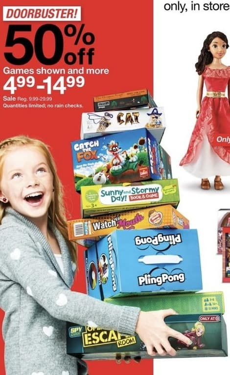 Target Black Friday: Assorted Board Games: Catch the Fox, Pling Pong, Watch Ya Mouth & More for $4.99 - $14.99