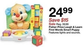 Target Black Friday: Fisher-Price Laugh & Learn First Words Smart Puppy for $24.99