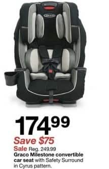 Target Black Friday: Graco Milestone with Safety Surround Car Seat for $174.99