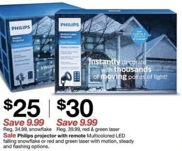 Target Black Friday: Philips Red & Green Laser Projector w/ Remote for $30.00