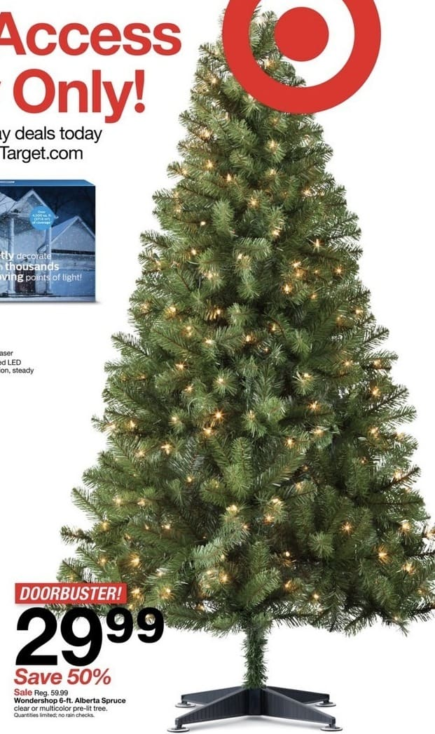 target black friday wondershop 6 ft alberta spruce christmas tree for 2999 see deal - Black Friday Deals On Christmas Trees