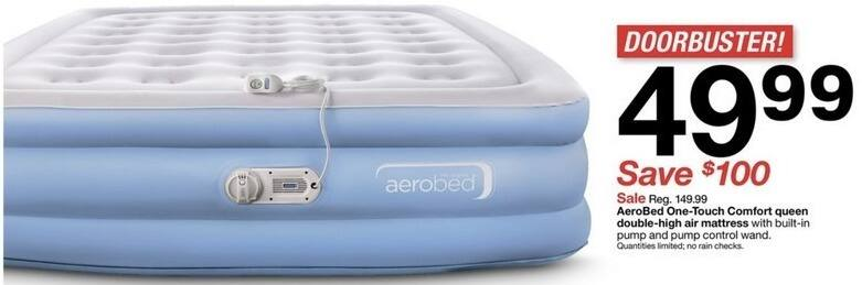 Target Black Friday: AeroBed One-Touch Comfort Queen Double-High Air Mattress for $49.99